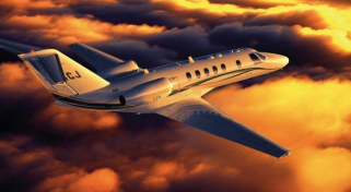 Business Citation CJ3 Jet Flight