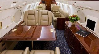 Business Gulfstream GIVSP Jet Flight