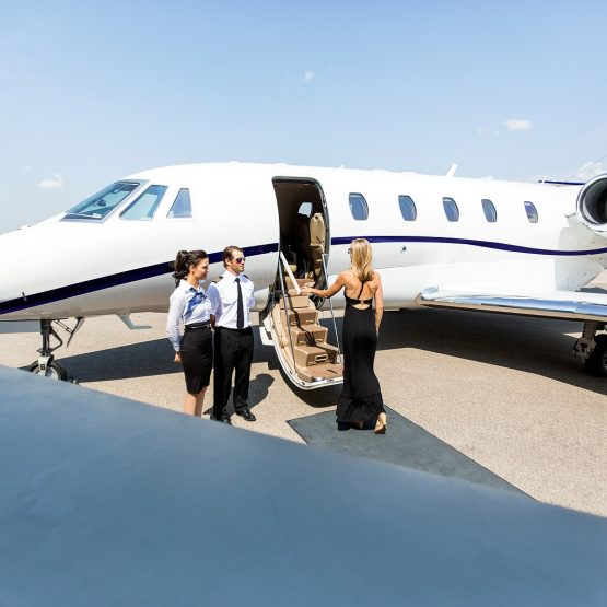 Private jet charter vs first class